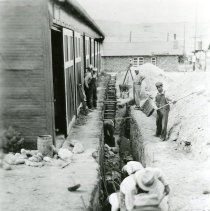 Image of Trench Digging, Camp George West