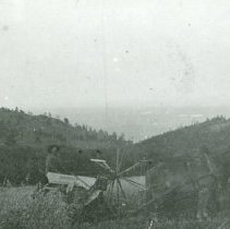 Image of Horse drawn hay mower and binder