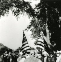 Image of DAR plaque dedication in Parfet Park
