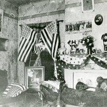 Image of Patriotic display in a parlor