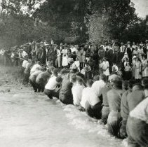 Image of Tug-of-war contest across Clear Creek