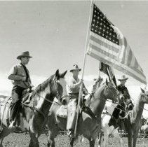 Image of Flag presentation at a rodeo