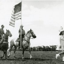 Image of Flag presentation at rodeo