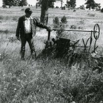 Image of Jack Pearce and tractor