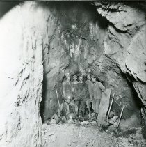 Image of Six miners inside a mine