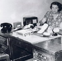 Image of Virginia Miller (Weigand) at the Republican Newspaper Office