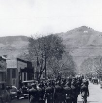 Image of Colorado School of Mines ROTC Students Marching up 12th Street