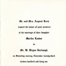 Image of Koch-Kerbaugh Wedding Invitation