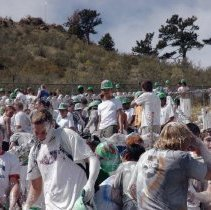Image of CSM freshman covered in white paint