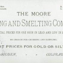 Image of The Moore Mining and Smelting Company