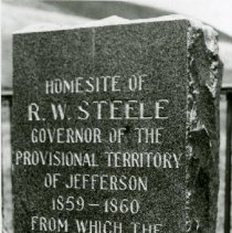 Image of R.W. Steele house marker