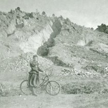 Image of Bike rider by clay pits