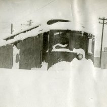 Image of Eldridge Express after the 1913 blizzard