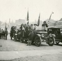 Image of Cars in the Armistice Day Parade (?)