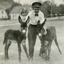 Image of Cousin Carl Osborn with Burros