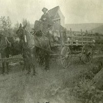 Image of Lester Trezise with Wagon