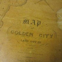 Image of Map of Golden City laid out in the spring of 1859