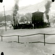 Image of Water tank in 1913 snow storm