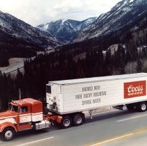 Image of Coors Brewery delivery truck
