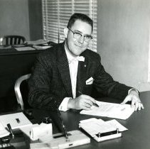 Image of Everett Barnhardt at Coors desk