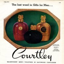 Image of 1947 Courtley Cologne advertisement
