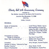 Image of Golden's Liberty Bell 50th Anniversary program