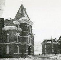 Image of Mathews Hall, Jarvis Hall, and the School of Mines