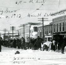 Image of 1913 snow on Washington Avenue