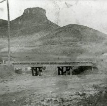 Image of Castle Rock and railroad tracks