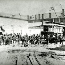 Image of First train run to Golden