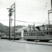 Image of Trolley cars on 13th Street