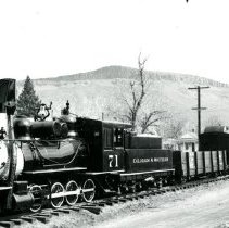 Image of C & S Railroad engine number 71