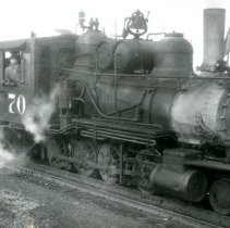 Image of C & S Railroad engine number 70