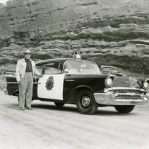 Image of Sheriff Arthur Wermuth and 1957 Patrol Car