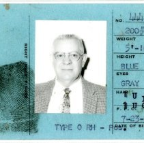 Image of Heston Derwood Adams special deputy card, back