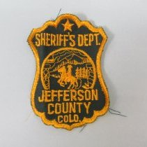 Image of 1988 Uniform blouse patch of the Jefferson County Sheriff's Department