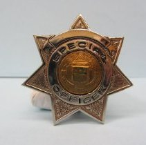Image of 1956 Raymond Isley Special Deputy Badge
