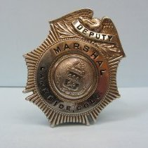 Image of 1956 Officer Raymond Isley Deputy Marshal Lakeside badge
