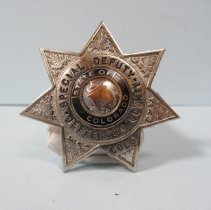 Image of 1958 Special Deputy Sheriff Badge