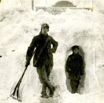 Image of William Wagenbach in 1913 snowstorm