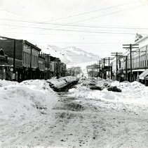 Image of Washington Avenue after 1913 snow