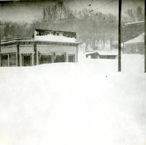 Image of Quaintance Block in 1913 blizzard
