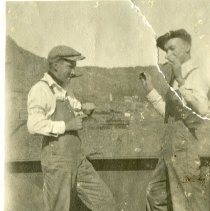 Image of Morris Jones and Chester J. Petrie goofing