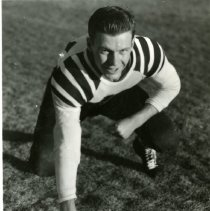 Image of Robert Petrie in Golden High football uniform