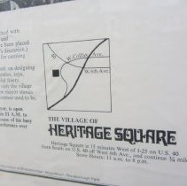 Image of Heritage Square holiday advertisement, detail