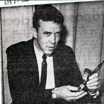 Image of Investigator Don Edwards with drug evidence