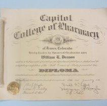 Image of Bill Deason's Pharmacy diploma