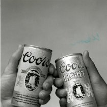 Image of Two Coors Beer cans