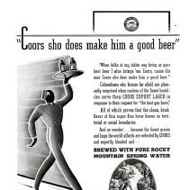 Image of Coors Beer server advertisement