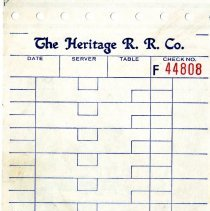 Image of The Heritage R.R. Co. bill of sale